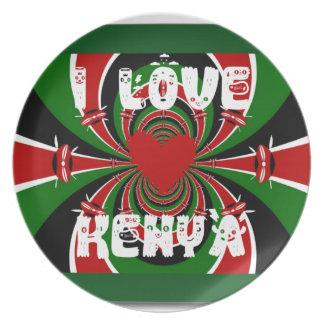私はケニヤHakuna Matataのギフトを愛します お皿