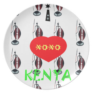 私はケニヤXOXOを愛します プレート