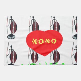 私はケニヤXOXOを愛します 台所タオル