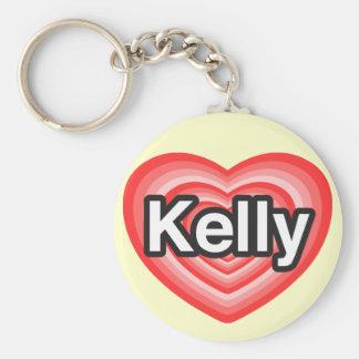 私はケリーを愛します。 私はケリー愛します。 ハート キーホルダー