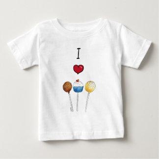 私はケーキのポップを愛します ベビーTシャツ