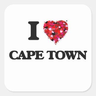 私はケープタウン南アフリカ共和国を愛します スクエアシール