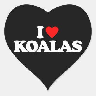 私はコアラを愛します ハートシール
