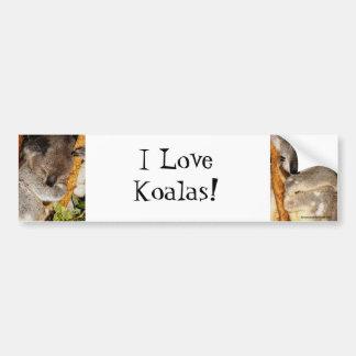 私はコアラを愛します! バンパーステッカー