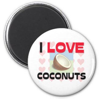 私はココナッツを愛します マグネット