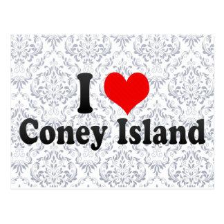私はコニーアイランド、米国を愛します ポストカード