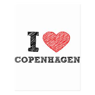 私はコペンハーゲンを愛します ポストカード