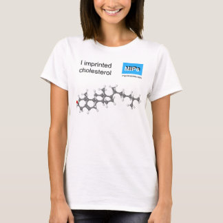 私はコレステロールのTシャツの球および棒を捺印しました Tシャツ