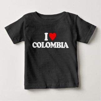 私はコロンビアを愛します ベビーTシャツ