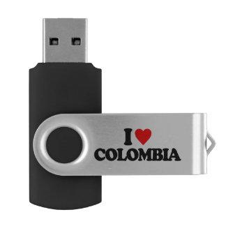 私はコロンビアを愛します USBフラッシュドライブ