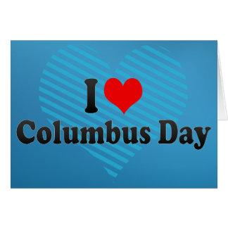 私はコロンブス記念日を愛します グリーティングカード