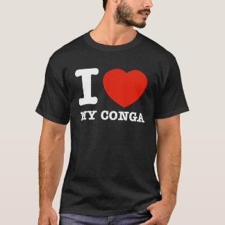 私はコンガを愛します Tシャツ