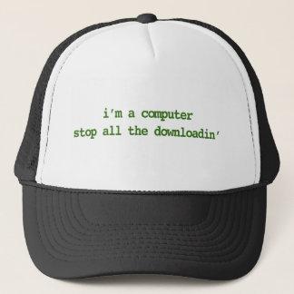 私はコンピュータです; すべてのDOWNLOADINをストップ キャップ