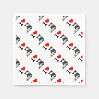 私はコーギーのお尻を愛します スタンダードカクテルナプキン