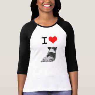 私はコーギーのお尻を愛します Tシャツ