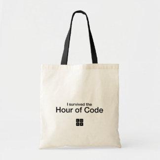 私はコードの時間を生き延びました トートバッグ