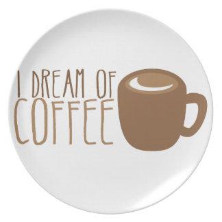 私はコーヒーの夢を見ます プレート