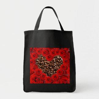 私はコーヒーの食料雑貨のトートバックを愛します トートバッグ