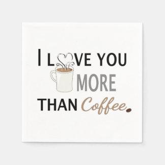 私はコーヒーよりもっと愛します スタンダードカクテルナプキン