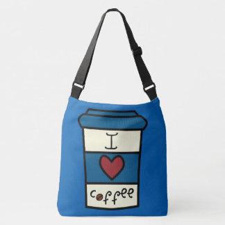 私はコーヒーを愛します クロスボディバッグ