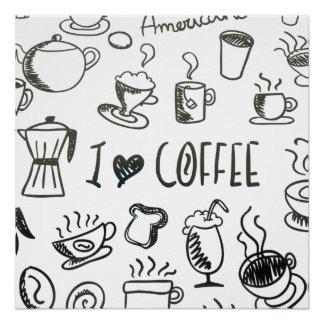 私はコーヒーを愛します ポスター
