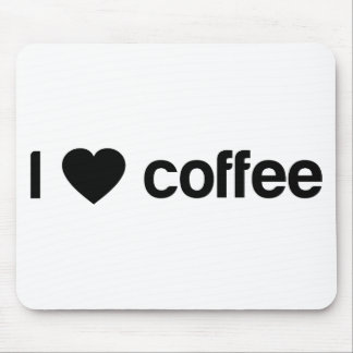私はコーヒーを愛します マウスパッド