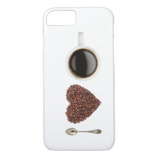 私はコーヒーを愛します iPhone 7ケース