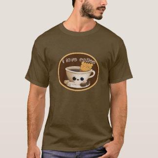 私はコーヒーを愛します Tシャツ