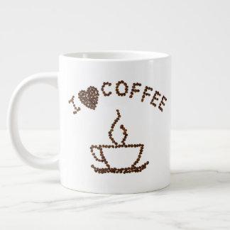 私はコーヒージャンボマグを愛します ジャンボコーヒーマグカップ