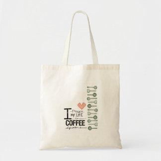私はコーヒースプーンの私の生命を測定します トートバッグ