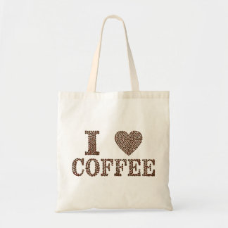 私はコーヒートートを愛します トートバッグ