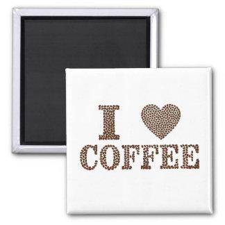 私はコーヒー磁石を愛します マグネット