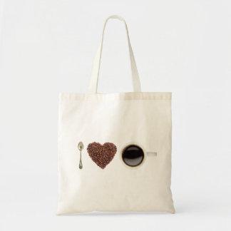 私はコーヒー01を愛します トートバッグ