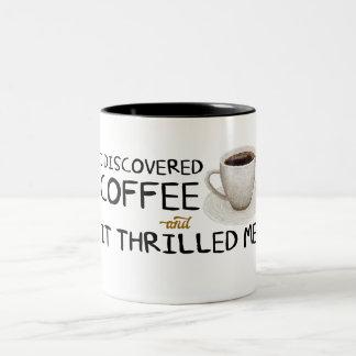 """""""私はコーヒー""""ツートーンマグ発見しました ツートーンマグカップ"""