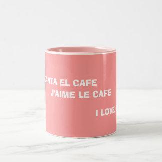 """""""私はコーヒー""""マグ愛します ツートーンマグカップ"""