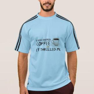 """""""私はコーヒー""""男性アディダスのワイシャツ発見しました Tシャツ"""
