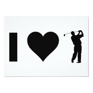 私はゴルフを愛します カード