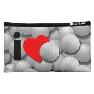 私はゴルフを愛します コスメティックバッグ