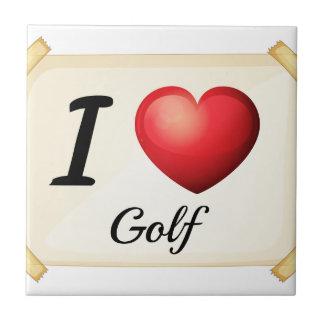 私はゴルフを愛します タイル