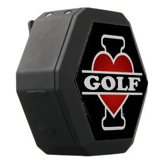 私はゴルフを愛します ブラックBluetoothスピーカー