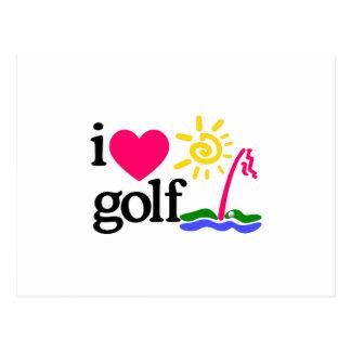 私はゴルフを愛します ポストカード