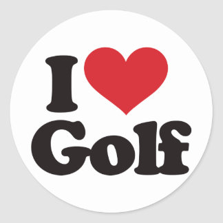 私はゴルフを愛します ラウンドシール