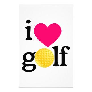 私はゴルフを愛します 便箋