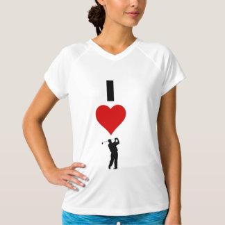 私はゴルフを愛します(縦) Tシャツ
