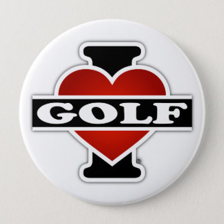 私はゴルフを愛します 缶バッジ