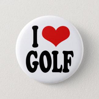 私はゴルフを愛します 5.7CM 丸型バッジ