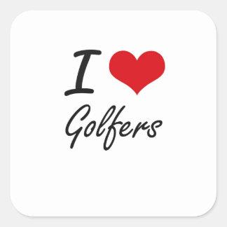 私はゴルファーを愛します スクエアシール