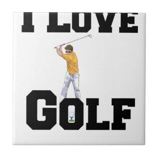 私はゴルフ01を愛します タイル