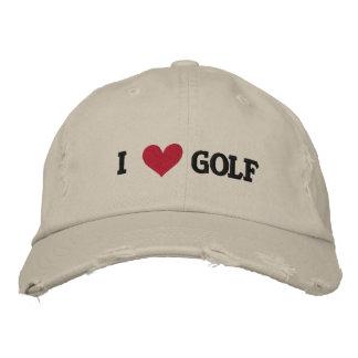 「私はゴルフ」野球帽愛します 刺繍入りキャップ