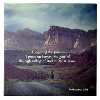 私はゴールのPhilippiansの3:14の聖書の方に押します タイル